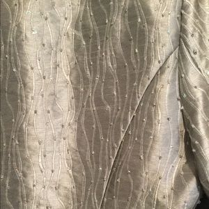 Formal Beaded Silver Jacket With Skirt